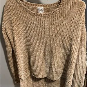Tan hippie rose sweater